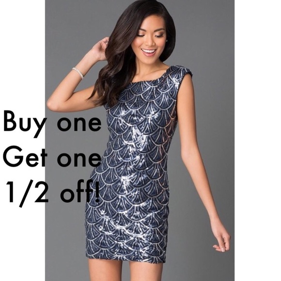 be61591bd5d Macy s Dresses   Skirts - Sequin cocktail or party dress with ...